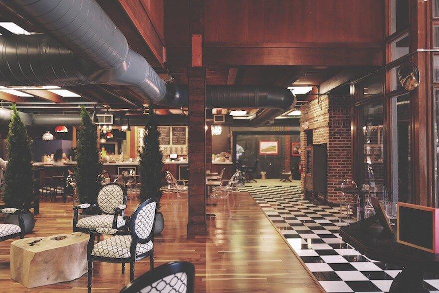 well designed restaurant interior