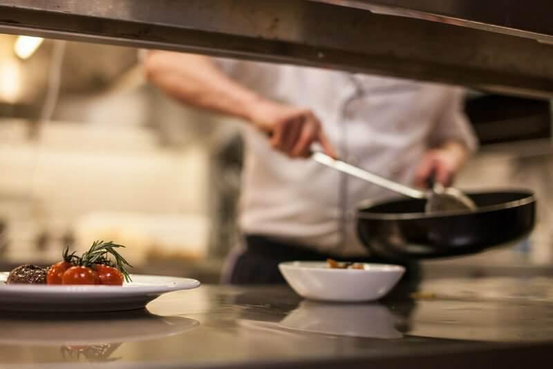 server serving food