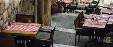 restaurant dining tables outside
