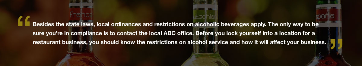 restaurant liquor bottles