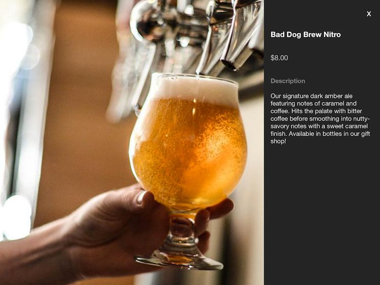 Built in POS descriptions for beer example screenshot