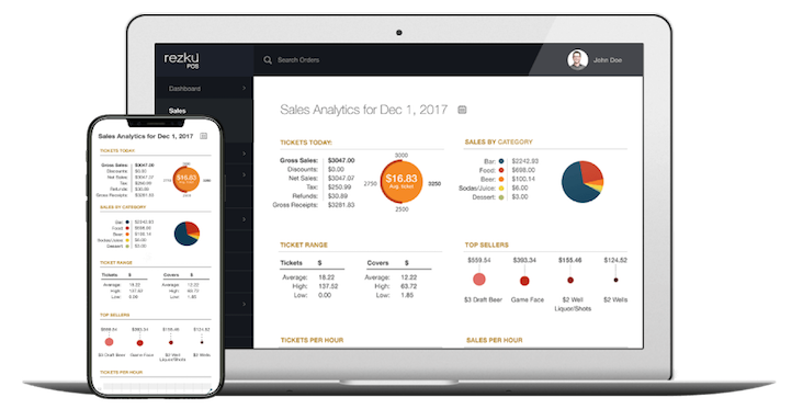 Devices using cloud based POS management portal for iPad