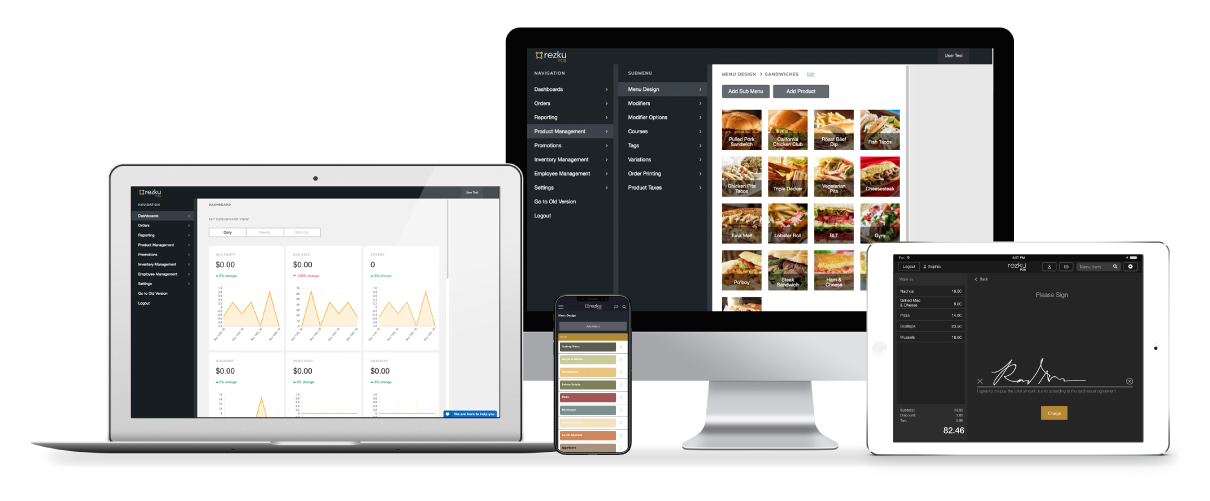 Manage your restaurant from any device