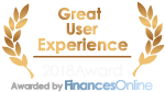 Great User Experience for Point of Sale Award from FinancesOnline