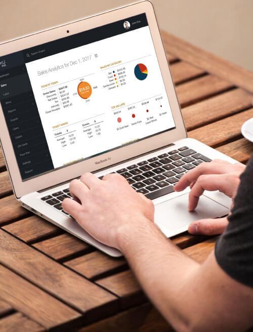 View your restaurant analytics