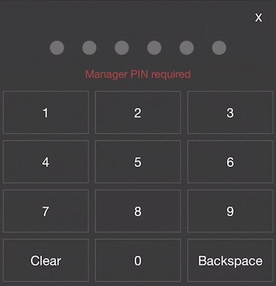 rezku pos cash drawer PIN screen