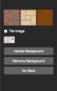 floor plan background default options