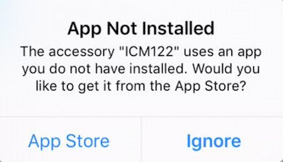 example of App Not Installed error message for ipad