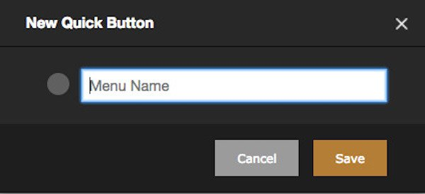 rezku pos backoffice quick button form