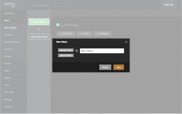 sub menu form example
