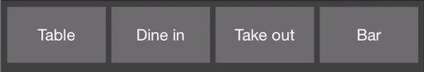 service type option closeup