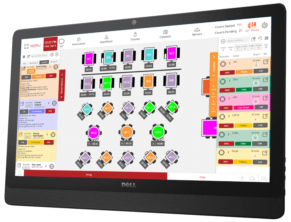 Restaurant Seating System Rezku Table Management - Restaurant table management system