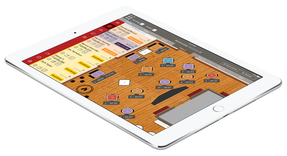 Restaurant Seating App Rezku Reservation IPad App - Table management app